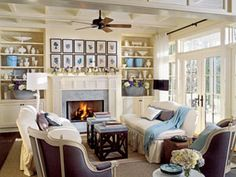 Living Room Decorating Ideas - How to Decorate a Colonial Revival Living Room - Country Living