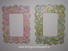 Cardboard and eggshells frames | Recyclart