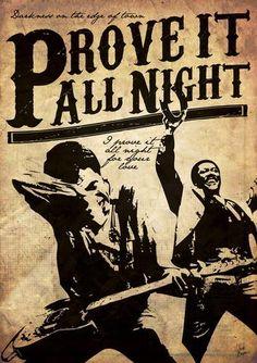 Bruce Springsteen - Prove it All Night - Mini Print