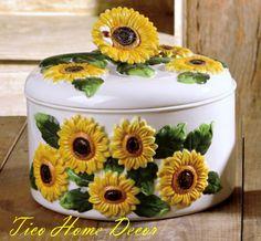 sunflower ceramic dinnerware set   ... DECORATIONS-16pc Dinnerware Set Dinner Set Sunflower Decor by Gibson