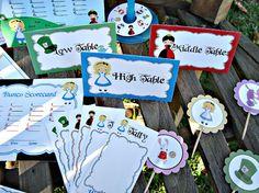 Bunco game set printable: Alice in Wonderland #alice #mad hatter