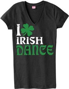 I Heart Irish Dance Clover V-neck T-shirt $16.99