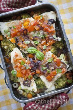 kabeljauw met broccoli uit de oven