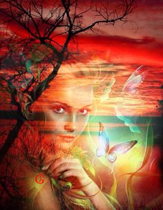 Come Away With Me Beautiful Fantasy Art, Beautiful Moon, Beautiful Fairies, Beautiful Romantic Pictures, Romantic Images, Artistic Photography, Love Photography, Double Exposition, Double Exposure Photography