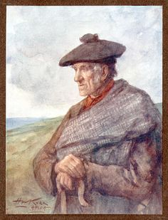 The Shepherd, water-colour drawing by Henry W. Kerr
