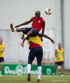 Demarcus Beasley.  Apparently he works hard during practice with the USMNT.