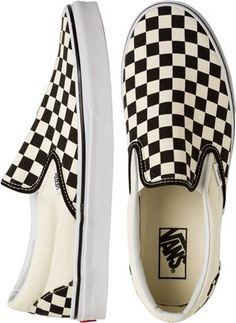 Checkered slip on vans. http://www.swell.com/New-Arrivals-Mens/VANS-CLASSIC-SLIP-ON-2?cs=BW