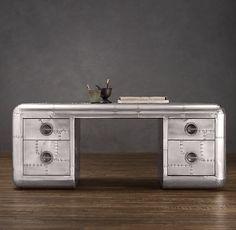 "77"" Blackhawk Trunk Desk | Restoration Hardware"