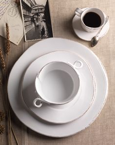 Vietri's newest collection - Lastra. Handformed in Tuscany of Italian stoneware. Microwave, oven, freezer and dishwasher safe and highly resistant to chipping. This woud go incredibly well with the Mateus lace collection in grey.