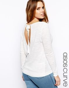 ASOS CURVE Jumper With Wrap Back