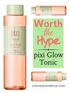 Natural ingredients for exfoliation make this PERFECT for over40 skin. pixi pixiglowtonic skincare drugstore beauty