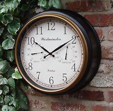 открытый сад настенные часы термометр и влажности 45 см черный цвет рамки ds1126