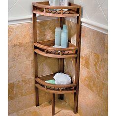 Teak Corner Stand For All The Bathrooms Interdesign Formbu Lock Suction Rectangular Basket Bamboo