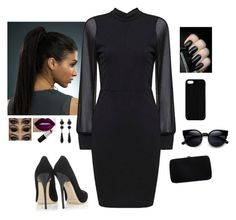"""""""I Dream Of Black"""" by hanakdudley ❤ liked on Polyvore featuring Jimmy Choo, Sergio Rossi, Maison Takuya, Givenchy, women's clothing, women, female, woman, misses and juniors"""