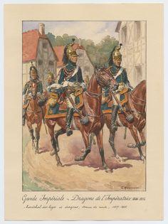 Garde Impériale - Dragons de l'Impératrice 1806-1815: Maréchal des logis et dragons, tenue de route, 1807-1808