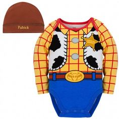 Personalizable Woody Costume Bodysuit and Cap