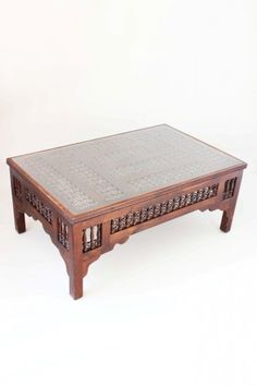 A Mashrabiyyah coffee table from our amazing Moroccan collection. Brings with it the spirit of the Maghreb to your room setting which you and your family will definitely enjoy. #Moroccan #furniture #homedecor #lattice #coffeetable #table #centretable