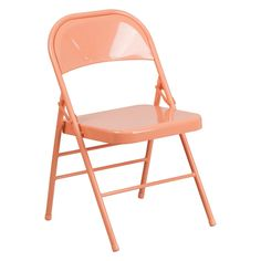 Flash Furniture HF3 Hercules Colorburst Series Double Hinged Metal Folding Chair - HF3-CITRON-GG