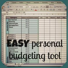 7 best aa images on Pinterest   Budget spreadsheet template  Family     Excel Budget Template