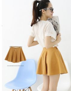 A Retro look. Ostrich flare skirt. $19.99.
