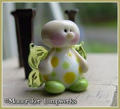 Spring Fairy Lampwork Bead van moonrakerbeads op Etsy, $11.50