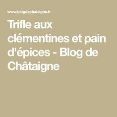 Trifle aux clémentines et pain d'épices - Blog de Châtaigne