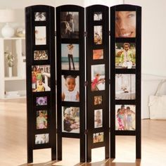 4 Panel Memories Photo Frame Room Divider - Black. I don't have anywhere to put something like this, but it is cool.