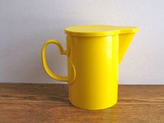Vintage Dansk Gourmet Designs Plastic Yellow Pitcher on Etsy, $18.00