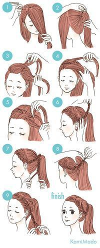 New hair styles cute for school hairdos 37 ideas Hairstyles For School, Ponytail Hairstyles, Braided Hairstyles, School Hairdos, Drawn Hairstyles, Ladies Hairstyles, Curly Ponytail, Bridal Hairstyle, Natural Hairstyles