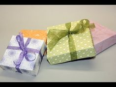 2 square giftboxes, one sheet of 12x12