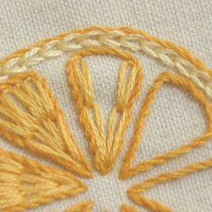 レモンとオレンジの簡単刺繍 の画像 【かんたん刺繍教室】たった6つのステッチだけでらくらく刺繍上達ブログ