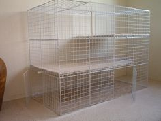 Made from wire storage cubes