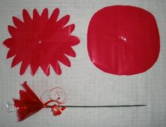 "candy flower bouquet - attach candy to skewer with florist tape, add ""petals"""