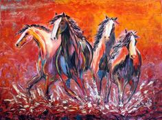 abstract horse paintings | Western Paintings | Page 2