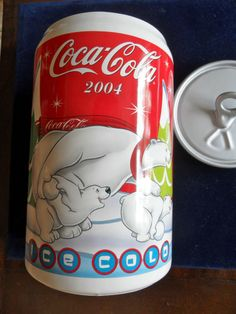 Coca Cola COKE Collectible Cookie Jar Soda Pop Can Cookie Cooler 2004 Excellent #CokeCola