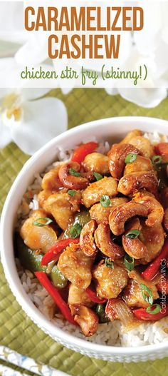 Skinny Caramelized Cashew Chicken Stiry Fry