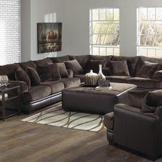 Extra Large Fabric Sectional Sofa