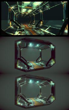 Sci-Fi Corridor by =samdrewpictures on deviantART