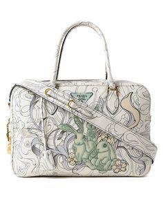Buy Prada Prada Glace Calf Rabbit Handbag now at italist and save up to  EXPRESS international shipping! eb03edc8e7764