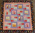 "Quilt, Lap Quilt ,Patchwork Quilt, Wall Hanging~Cool Cats~43"" x 43"""