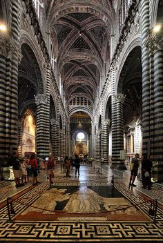 Duomo di Sienna, Italy....been here..it is breathtaking...sighhhhh so amazing. The walls are built that at one end when you whisper, you can hear it at the other end. So much artwork lays in there, quite beautiful.