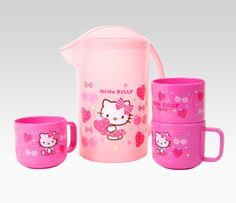 something PINK: Hello Kitty Pitcher & Cup Set: Pink Fruits  #SephoraHelloKitty
