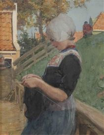 Willy Sluiter, Portrait of a Volendam girl