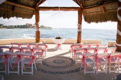 The view from The Wedding Gazebo is stunning #DreamsPuertoAventuras #Mexico #Destinationwedding