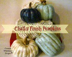 Chalky Finish Pumpkins