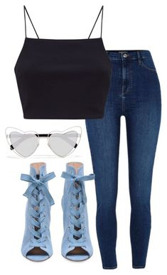 """Untitled #114"" by sofiaosousa on Polyvore featuring River Island and Yves Saint Laurent"