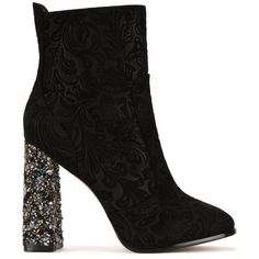 Sophia Webster 'Kendra' brocade boots (2120 TND) ❤ liked on Polyvore featuring shoes, boots, black, sophia webster shoes, sophia webster, kohl shoes, black boots and brocade shoes