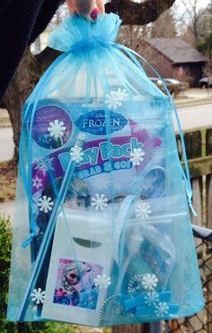 Disney's Frozen Snowflake Elsa Empty Gift Bag Purse Party Favor Loot Goody #Disney