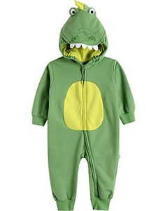 Vaenait Baby 624M Boys Infant Hooded Jumpsuit Rompers Green dino S *** Click on the image for additional details.Note:It is affiliate link to Amazon.