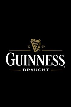 Guiness Logo, renowned world wide, works in black and white.